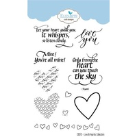 Elizabeth Craft Designs Clear Stamp Set Love & Hearts Collection by Joset Designs