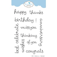 Elizabeth Craft Designs Clear Stamp Set Celebration by Joset Designs