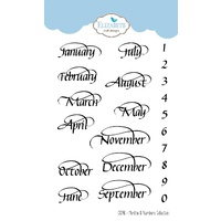 Elizabeth Craft Designs A Way with Words Stamp Months & Numbers Collection