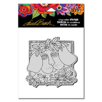 "Stampendous Cling Stamp 6.5x4.5"" Holly Pup by Laurel Burch"