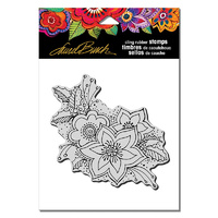 "Stampendous Cling Stamp 6.5x4.5"" Festive Flora by Laurel Burch"