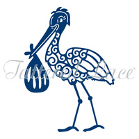 Tattered Lace Die Stork