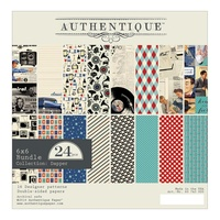 "Authentique 6x6"" Double Sided Cardstock Pad Dapper 24pg"