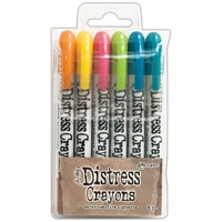 Ranger Distress Crayon Set #1 6pk by Tim Holtz