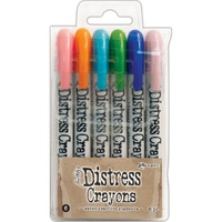 Ranger Distress Crayon Set #6 6pk by Tim Holtz