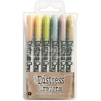 Ranger Distress Crayon Set #8 6pk by Tim Holtz