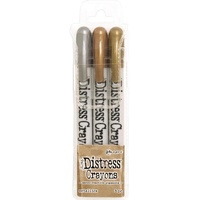Ranger Distress Crayon Set Metallics