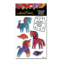 Stampendous Die Magical Horses by Laurel Burch