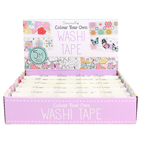 Dovecraft Washi Tape Colour Your Own 5pk