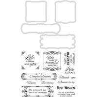 Kaisercraft Decorative Die & Stamp Set Best Wishes