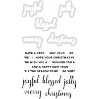 Kaisercraft Decorative Die & Stamp Set Christmas Greetings