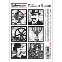 Darkroom Door Collage Stamp Steampunk Squares