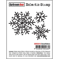 Darkroom Door Eclectic Stamp Snow Flakes
