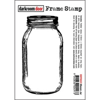 Darkroom Door Frame Stamp Mason Jar
