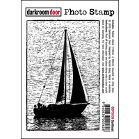 Darkroom Door Photo Stamp Sail Boat