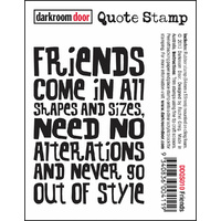 Darkroom Door Quote Stamp Friends