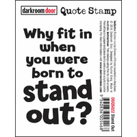Darkroom Door Quote Stamp Stand Out