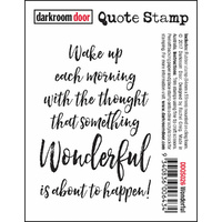 Darkroom Door Quote Stamp Wonderful
