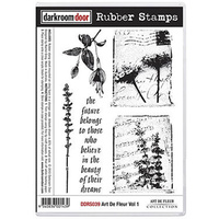 Darkroom Door Rubber Stamp Set Art De Fleur Volume 1