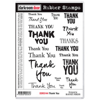 Darkroom Door Rubber Stamp Set Thank You