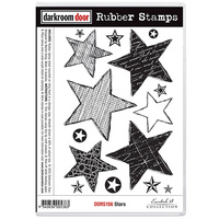 Darkroom Door Rubber Stamp Set Stars