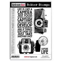 Darkroom Door Rubber Stamp Set Capture Life