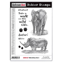 Darkroom Door Rubber Stamp Set Wild Africa Volume 3