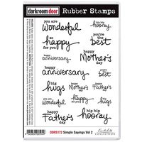 Darkroom Door Rubber Stamp Set Simple Sayings Volume 2