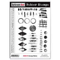 Darkroom Door Rubber Stamp Set Grunge Marks