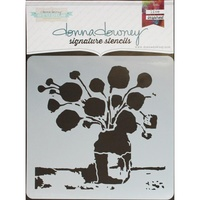 "Donna Downey Signature Stencil 8.5x8.5"" Flowers in Vase #2"