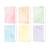 "Hunkydory Design Essentials Card Blanks with Envelopes 5x7"" Brushed Pastels"