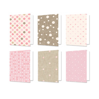 "Hunkydory Design Essentials Card Blanks with Envelopes 5x7"" Linen Polka Dots"