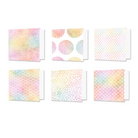"Hunkydory Design Essentials Card Blanks with Envelopes 6x6"" Rainbow Radiance"
