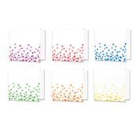 "Hunkydory Design Essentials Card Blanks with Envelopes 6x6"" Confetti Dots"