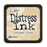 Ranger Distress Mini Ink Pad Antique Linen by Tim Holtz