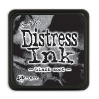 Ranger Distress Mini Ink Pad Black Soot by Tim Holtz