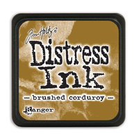 Ranger Distress Mini Ink Pad Brushed Corduroy by Tim Holtz