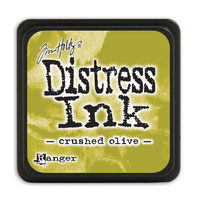 Ranger Distress Mini Ink Pad Crushed Olive by Tim Holtz