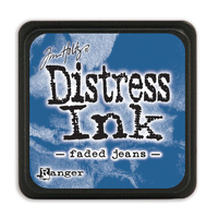 Ranger Distress Mini Ink Pad Faded Jeans by Tim Holtz