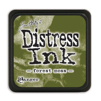Ranger Distress Mini Ink Pad Forest Moss by Tim Holtz