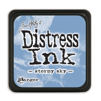 Ranger Distress Mini Ink Pad Stormy Sky by Tim Holtz