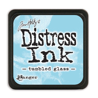 Ranger Distress Mini Ink Pad Tumbled Glass by Tim Holtz