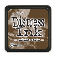 Ranger Distress Mini Ink Pad Walnut Stain by Tim Holtz