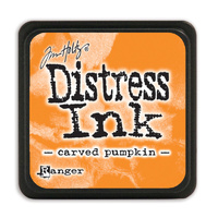 Ranger Distress Mini Ink Pad Carved Pumpkin by Tim Holtz