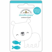 Doodlebug DoodlePops 3D Sticker At the Zoo Patrick Polar Bear