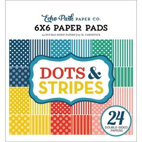 "Echo Park Summer Dots & Stripes 6x6"" Paper Pad 24pg"