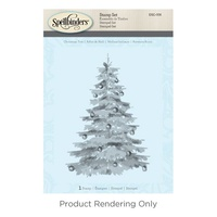Spellbinders 3D Cling Stamp Christmas Tree