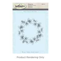 Spellbinders 3D Cling Stamp Wreath
