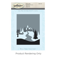 Spellbinders 3D Cling Stamp Winter Village