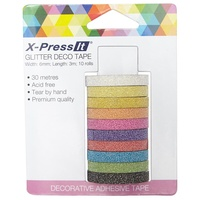X-Press It Deco Tape 10pk Glitter